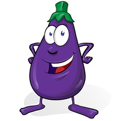Eggplant cartoon isolated on white background vector
