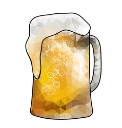 Abstract beer vector