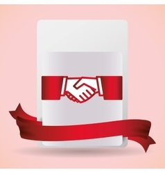 Hand shake design vector image