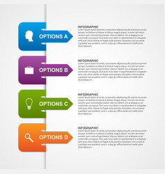 Abstract infographic template design elements vector