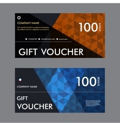 Template gift voucher with vector