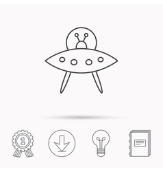 Ufo icon unknown flying object sign vector