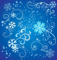 Snowflakes with flourishes vector