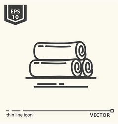 Ayurvedic supplies - icon series vector