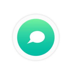 bubble icon sign vector image