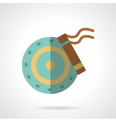Car brakes flat color icon vector