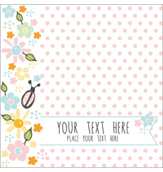 card with pink dots vector image vector image