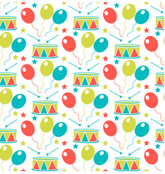 carnival seamless pattern purim repetitive vector image vector image