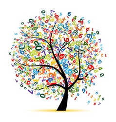 Digital tree for your design vector