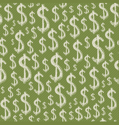 dollars signs seamless pattern vector image vector image