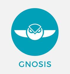Gnosis gno cripto currency logo vector