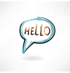 hello in bubble speech vector image
