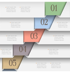 Horizontal paper numbered banners vector