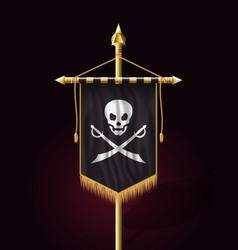 Jolly roger jack pirate flag format vector