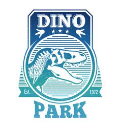 Jurasstic or dinosaur park label vector