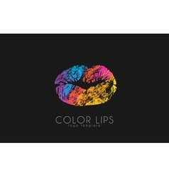 Lips logo design woman lips color lips vector