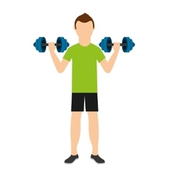 man lifting weights isolated icon design vector image vector image