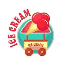 mobile ice cream truck vector image vector image