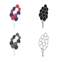 Patriotic balloons icon in cartoon style isolated vector