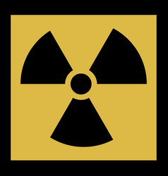 radiation icon radiation symbol vector image