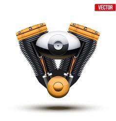 Retro motorcycle engine vector