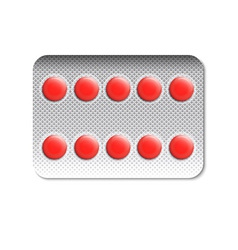 Round pills in a blister pack vector image