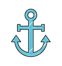 Sail anchor isolated icon vector