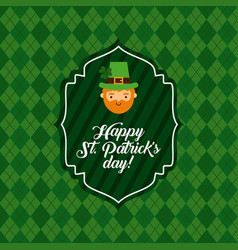 saint patric day design vector image
