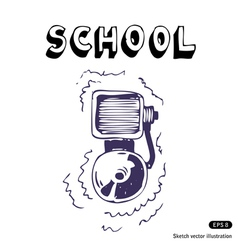 School lesson vector image vector image