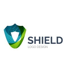 Secure shield logo design made of color pieces vector image vector image