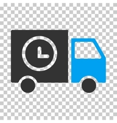 Shipment schedule van eps icon vector