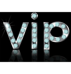 sign vip vector image vector image