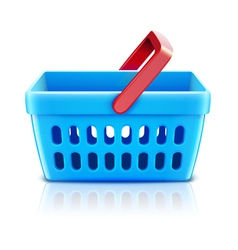 supermarket shopping basket vector image vector image