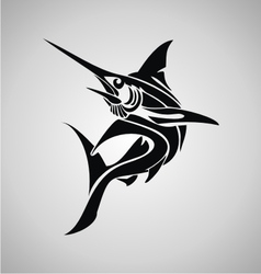 Tribal marlin fish vector