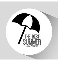 Umbrella card best summer travel and enjoy vector