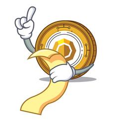 With menu komodo coin mascot cartoon vector