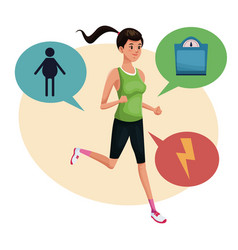 Woman sports training lifestyle vector