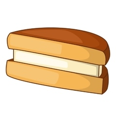 Biscuit icon cartoon style vector