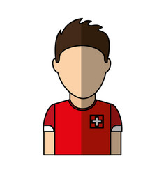 Switzerland team player soccer vector