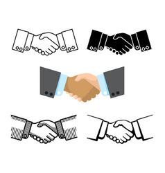 handshake business partnership agreement vector image