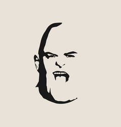 Brutal bald man with a beard vector