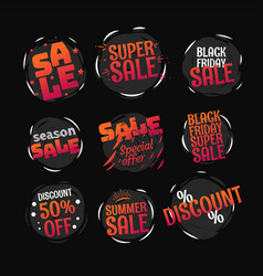 different color sale banners collection web promo vector image
