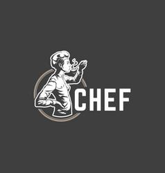 restaurant logo template object for vector image