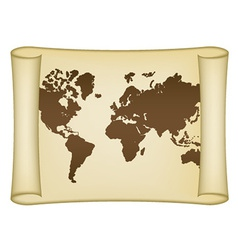 Historical world map vector