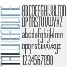 Double lines tall headline light condensed retro vector