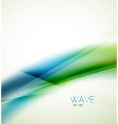 Flowing wave of blending colors vector