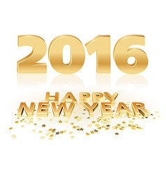 Golden Happy New Year vector image