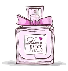 Parfume love in paris vector