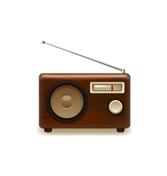 Old retro wooden radio vector