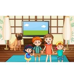 Happy children in the room vector image